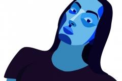 Mátics-Napsugár-önarckép-kék