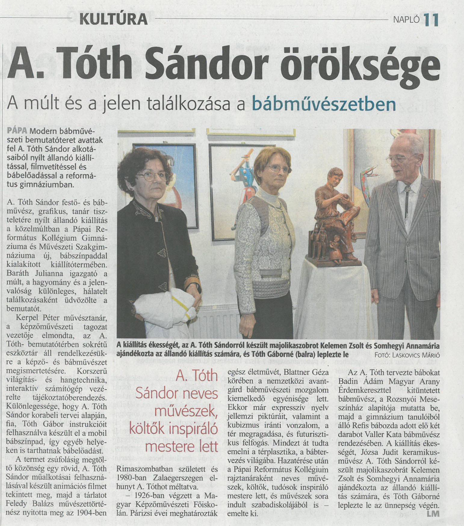 A. Tóth Sándor öröksége